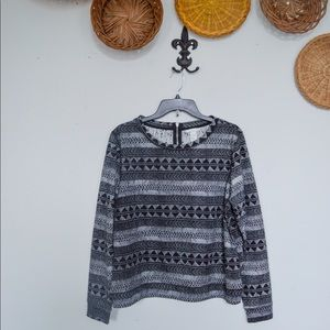 H&M Patterned Long Sleeve Top
